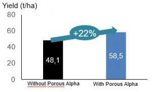 Increased 22% yield
